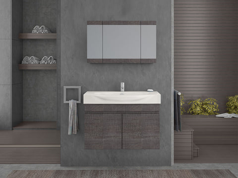 ISOLA VANITY SET - Dark Grey - 34""