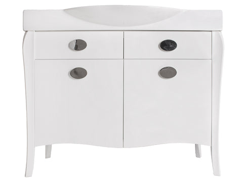 "Yoshei 42"" Vanity Set - Shiny White"