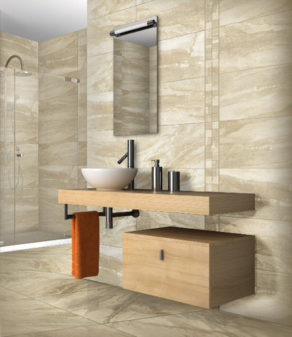MADISON SERIES - Almond Matte Porcelain - 12x24""