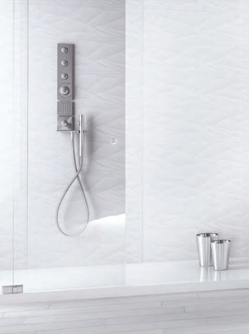 ICON KENTIA COLLECTION - White Glossy Porcelain - 10x32""