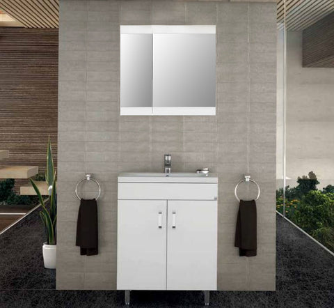 MILITOS VANITY SET - White Lacquer - 24""