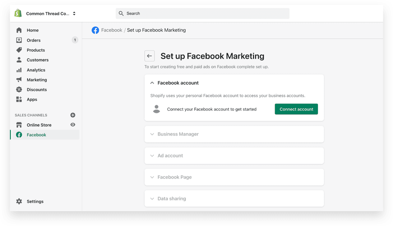 Setup Facebook marketing CAPI on Shopify