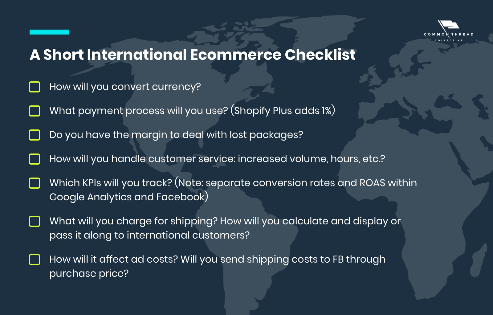 A Short International Ecommerce Checklist