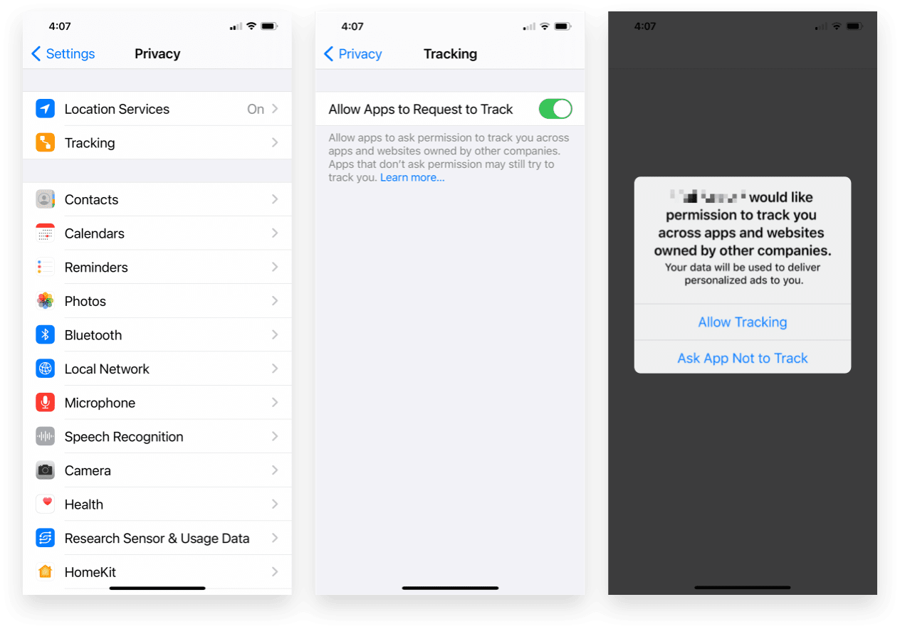 Apple's App Tracking Transparency Prompt