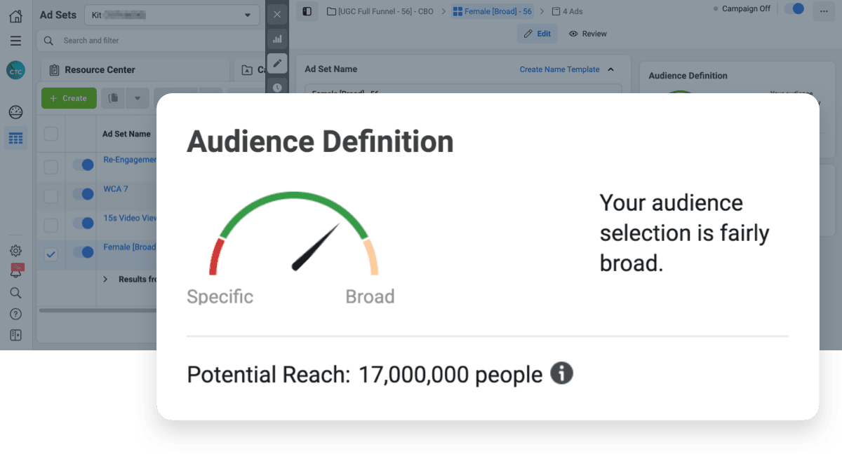 facebook ads audit: Are prospecting audiences broad enough to leverage facebook's AI? Our guide to finding your ideal facebook ads audience size