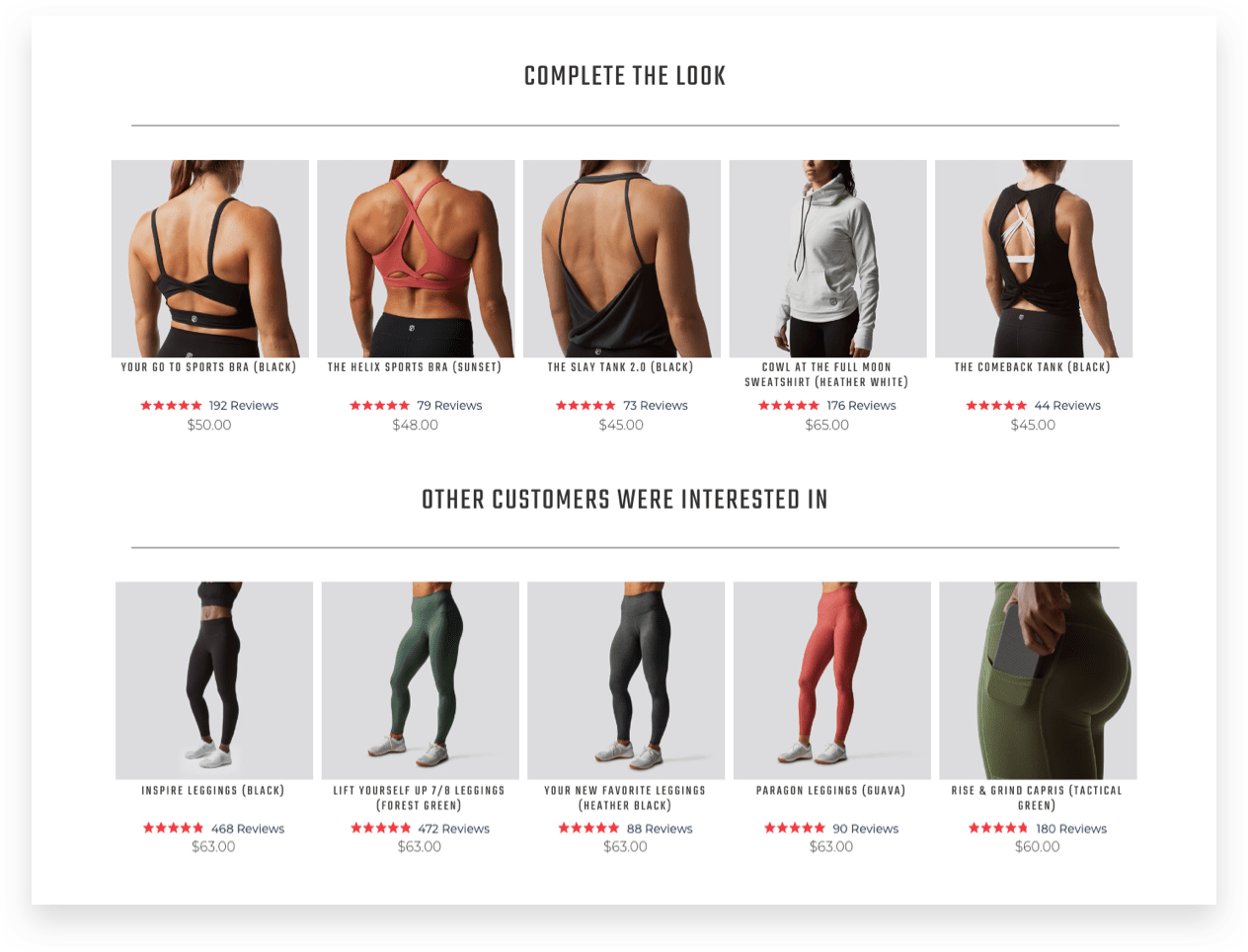 Born Primitive recommendations drive sales for the ecommerce fitness apparel brand