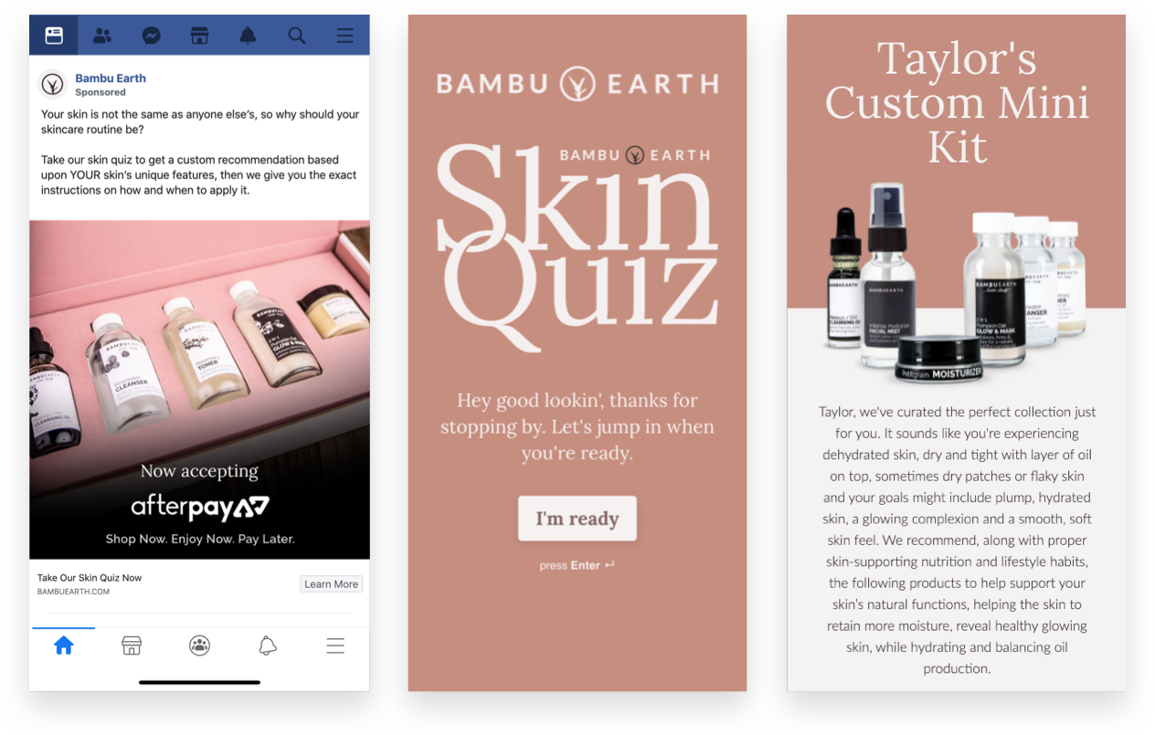 Bambu Earth Skin Quick Ad and Landing Page