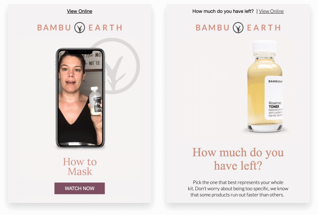 Bambu Earth follow-up emails