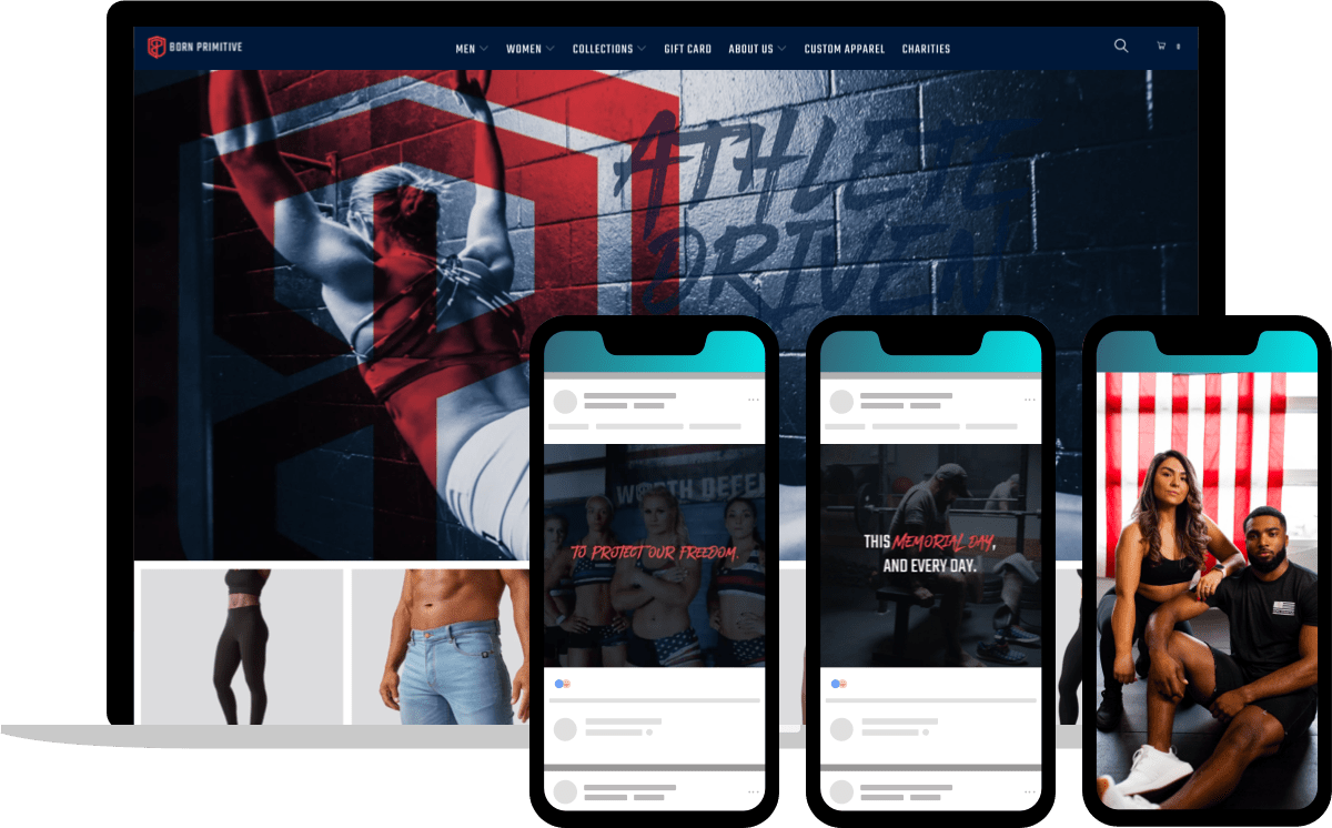Memorial day campaign from ecommerce brand Born Primitive solidifies their stance as active supporters to US troops year round