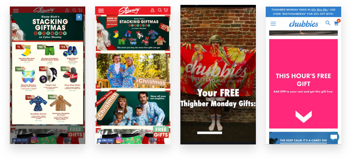 Steve Madden and Chubbies used rapidly released free gifts to drive holiday campaign success