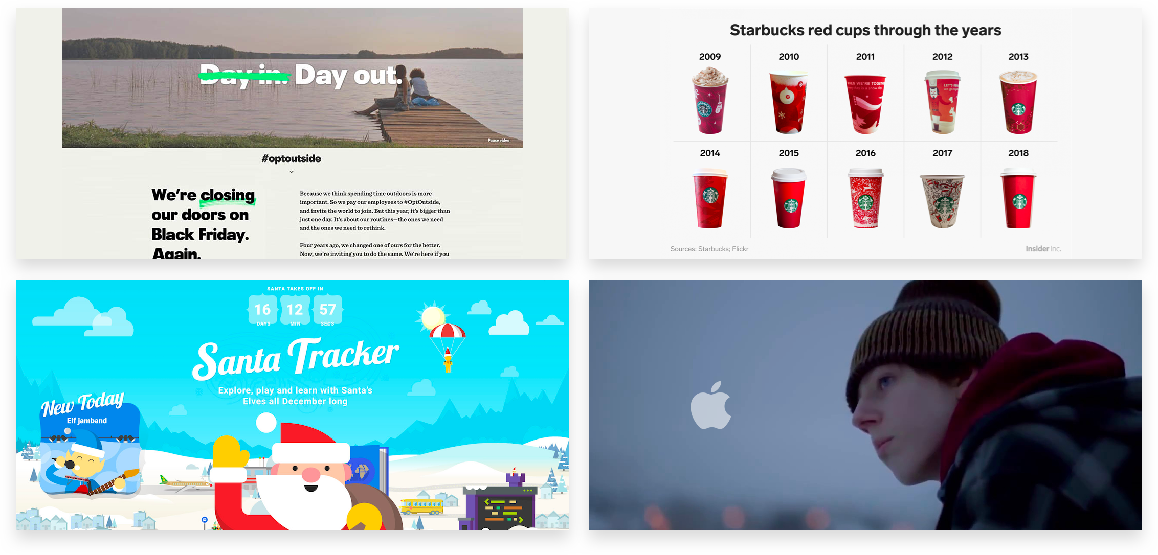 Classic holiday marketing campaigns beyond DTC