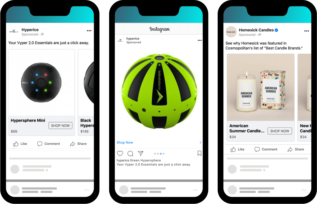Dynamic Product facebook ads pull directly from shopify