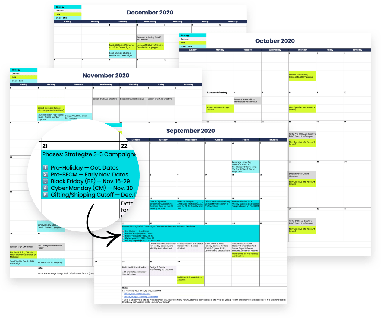 Ecommerce Holiday Marketing Calendar