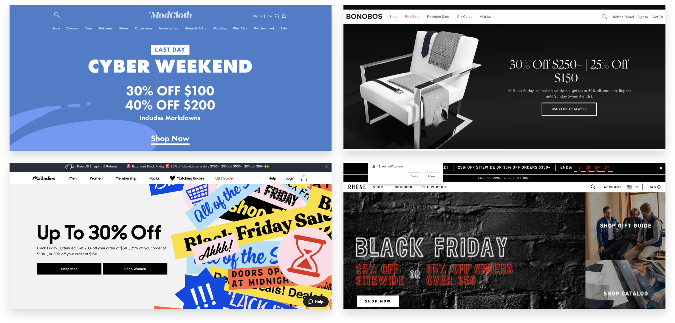 Examples of Tiered Discount Holiday Campaigns and Offers