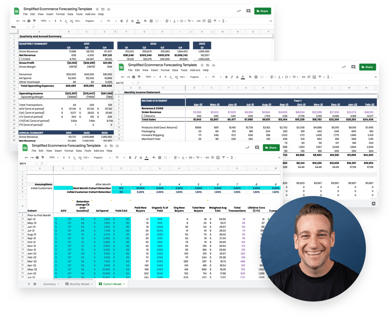 Ecommerce Forecasting Template with Video Tutorial Preview