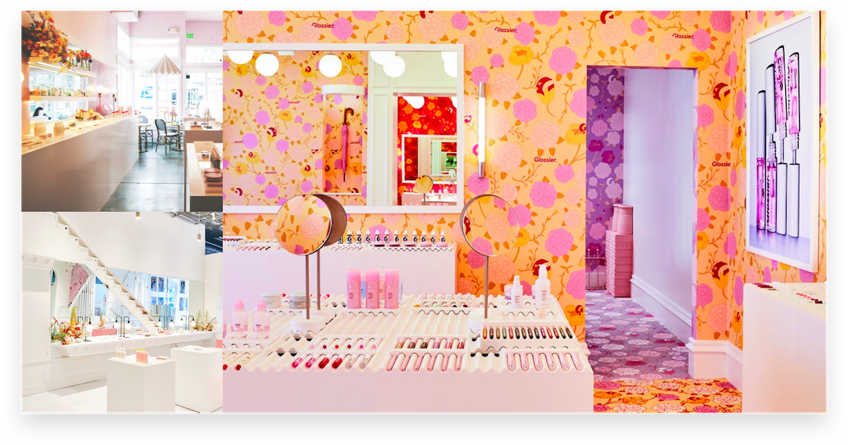 Glossier Pop-Up Examples
