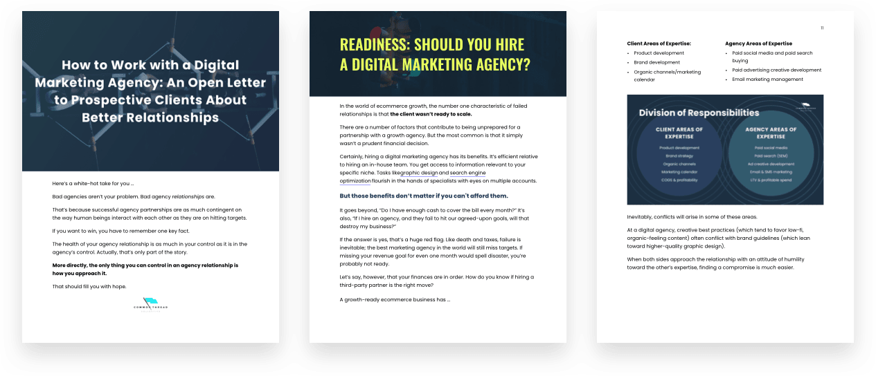 working with a digital marketing agency relationship cheat sheet