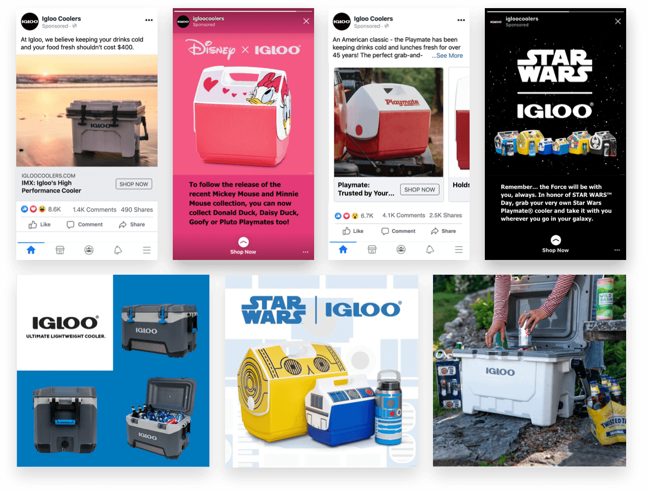 Igloo ad creative examples