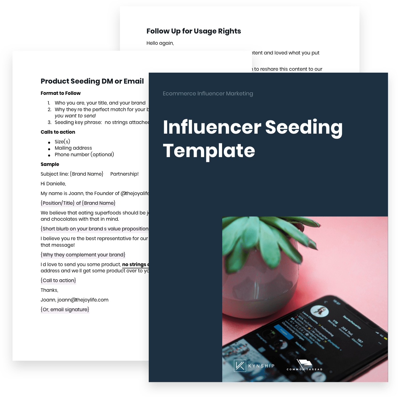 Ecommerce Influencer Marketing: Influencer Seeding Template