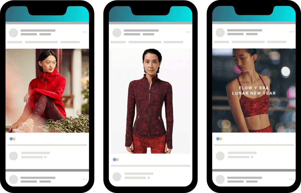 ecommerce brand Lululemon builds a peak into their marketing calendar with a Lunar New Year collection