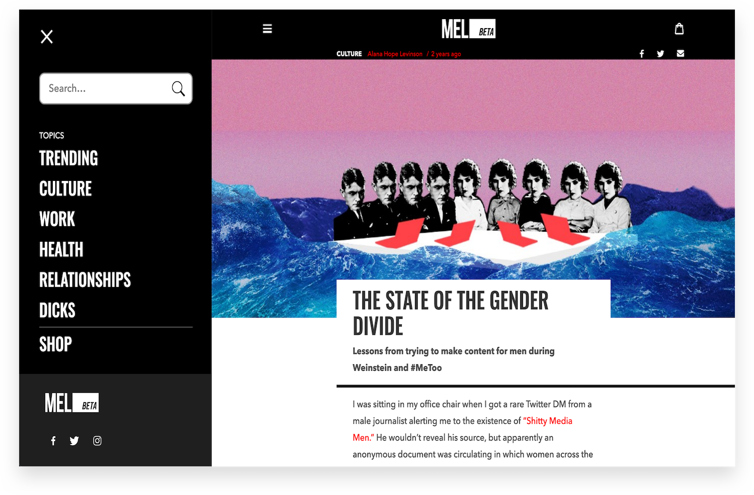 Mel Magazine The State of the Gender Divide