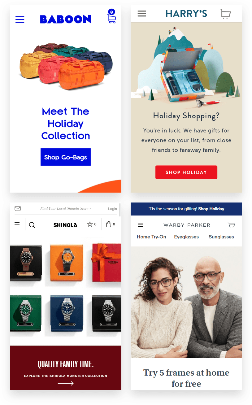 examples of eccomerce retailers with holiday campaigns that offered no discounts