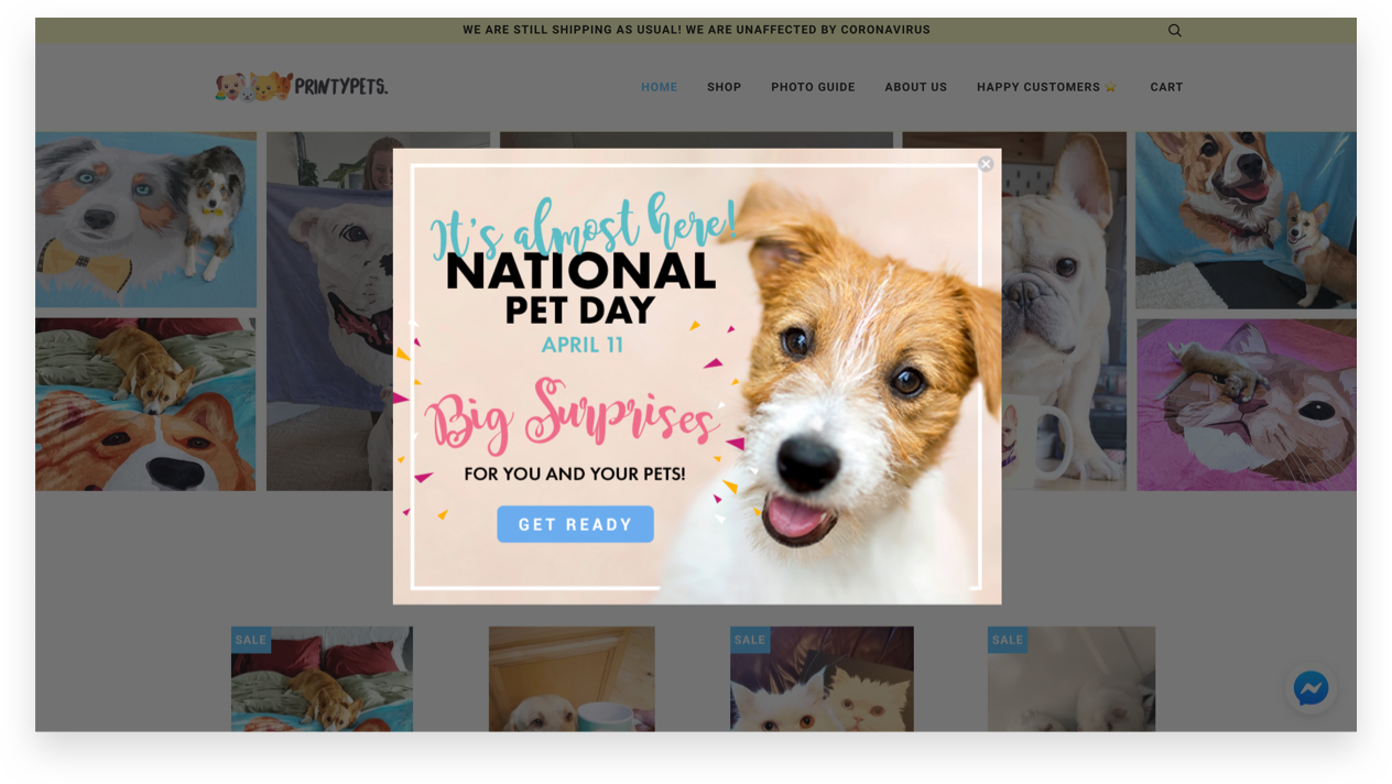 Printy Pets - National Pet Day Pop-Up