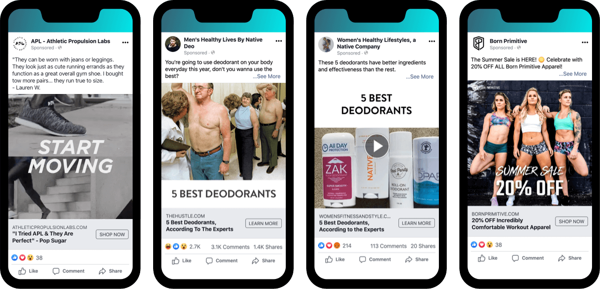 Facebook Ads Reengagement: APL, Native, and Born Primitive