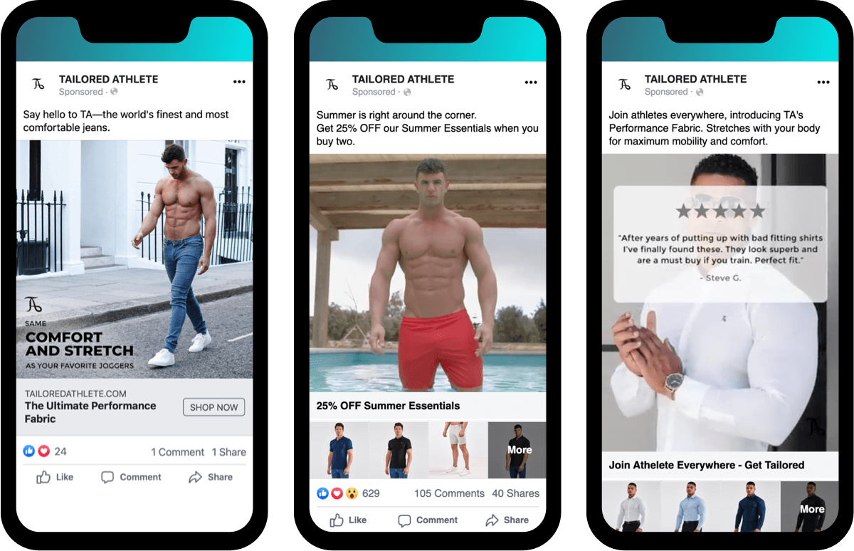 Tailored Athlete Facebook Retargeting Ads