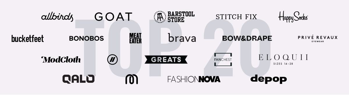 Top 20 Apparel & Accessories Digitally Native Brands