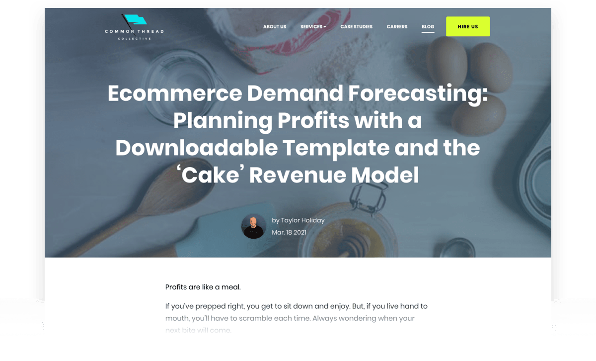 Ecommerce Demand Forecasting: Planning Profits with a Downloadable Template and the 'Cake' Revenue Model