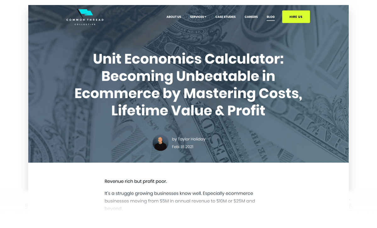 Unit Economics Calculator: Becoming Unbeatable in Ecommerce by Mastering Costs, Lifetime Value, and Profit