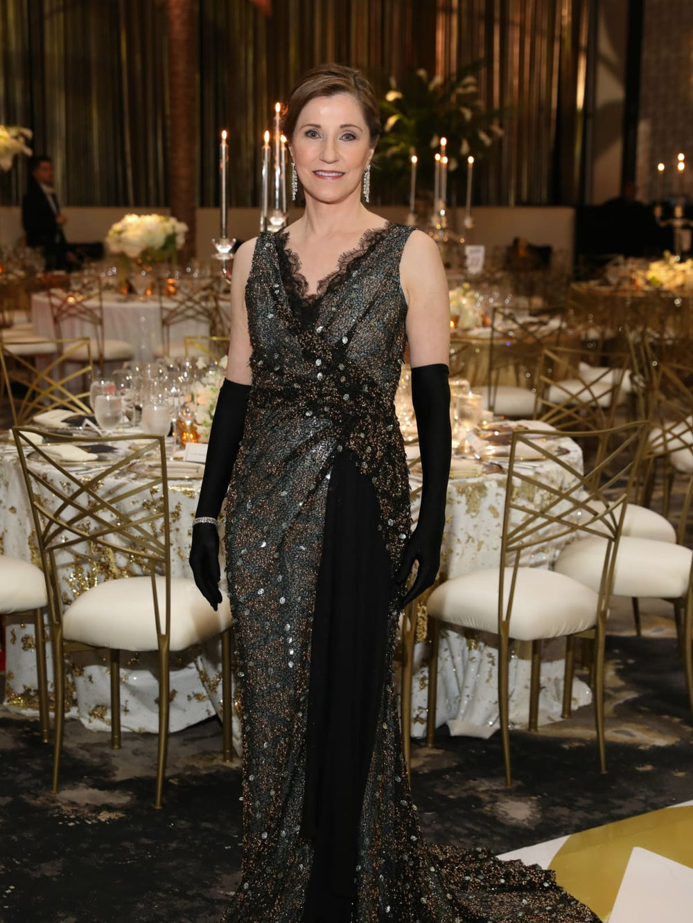 Dr. Liz Grimm, Houston Grand Opera Ball Chair, Miles David Custom Gown by David Peck, The Post Oak Hotel