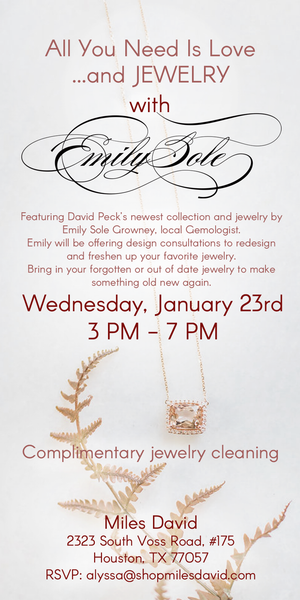 All you need is Love jewelry event with Emily Sole Growney