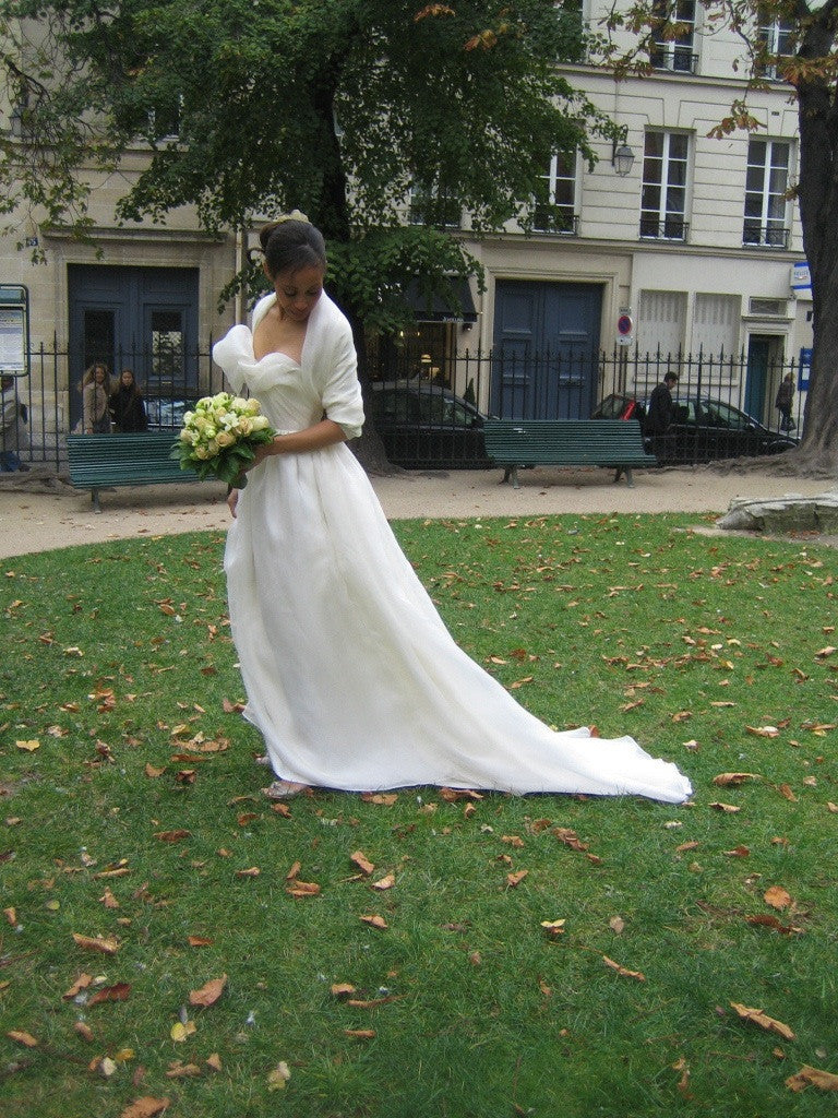 Miles David by David Peck, Custom Wedding Gown, Paris Wedding,