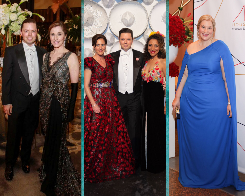 David Peck Gowns for Opera Ball and Concert of Arias Chairs