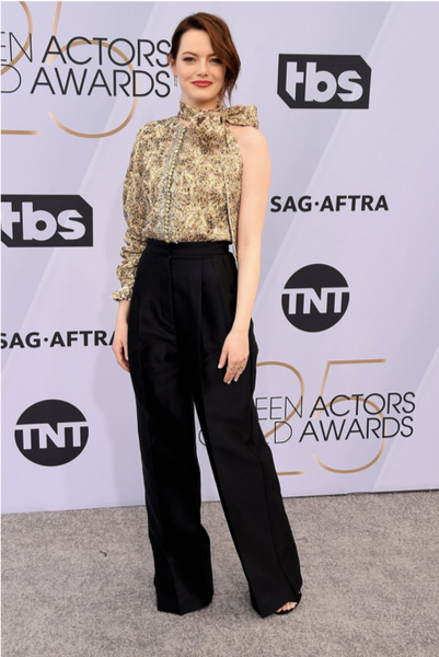 Emma Stone SAG Awards Bow trends by David Peck