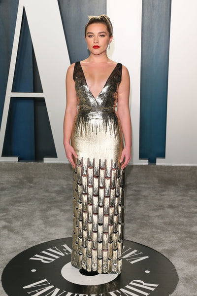 Florence Pugh at the Vanity Fair Oscars 2020 After Party in Luis Vuitton