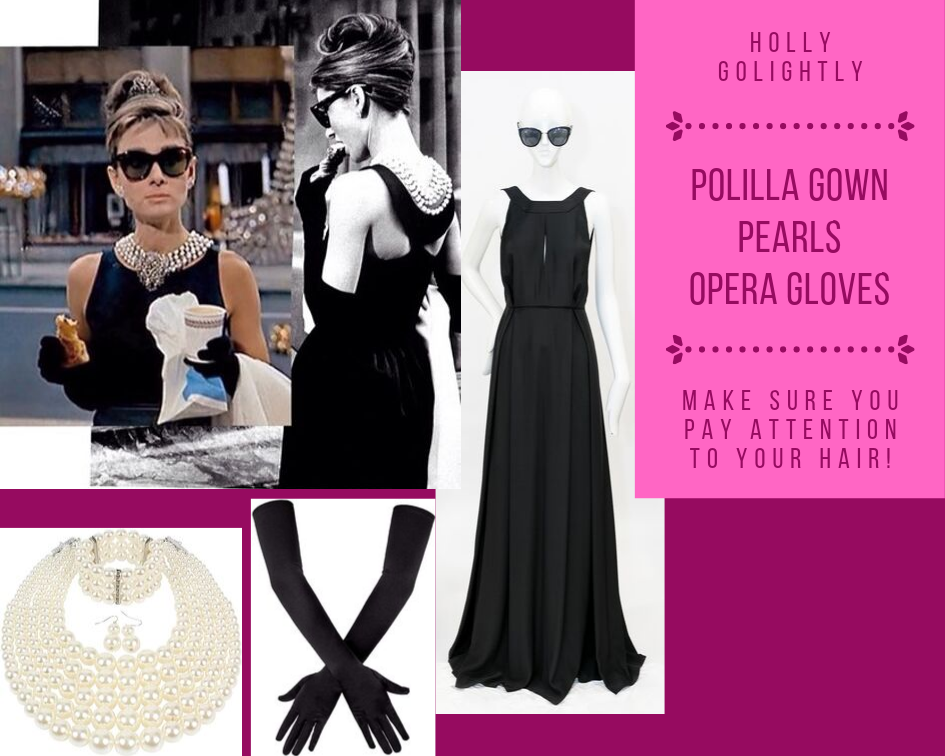 Audrey Hepburn as Holly Golightly in Breakfast at Tiffany's Costume