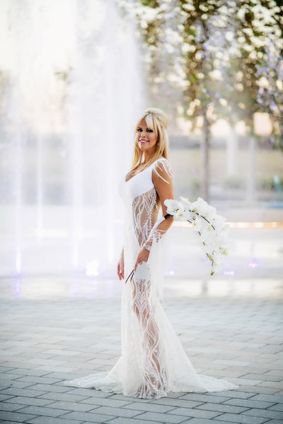 Amy West Custom David Peck Wedding Gown