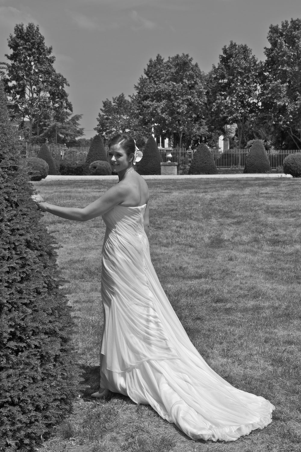 Miles David by David Peck, Custom Wedding Gown, Houston