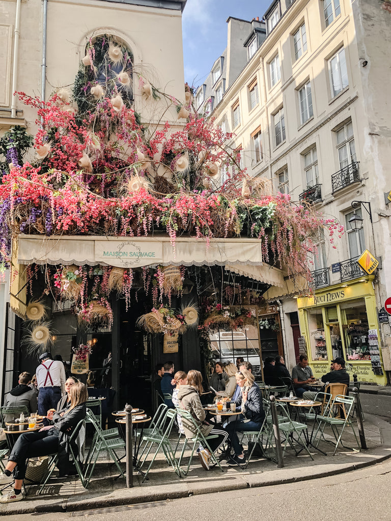 Paris Cafe and flowers