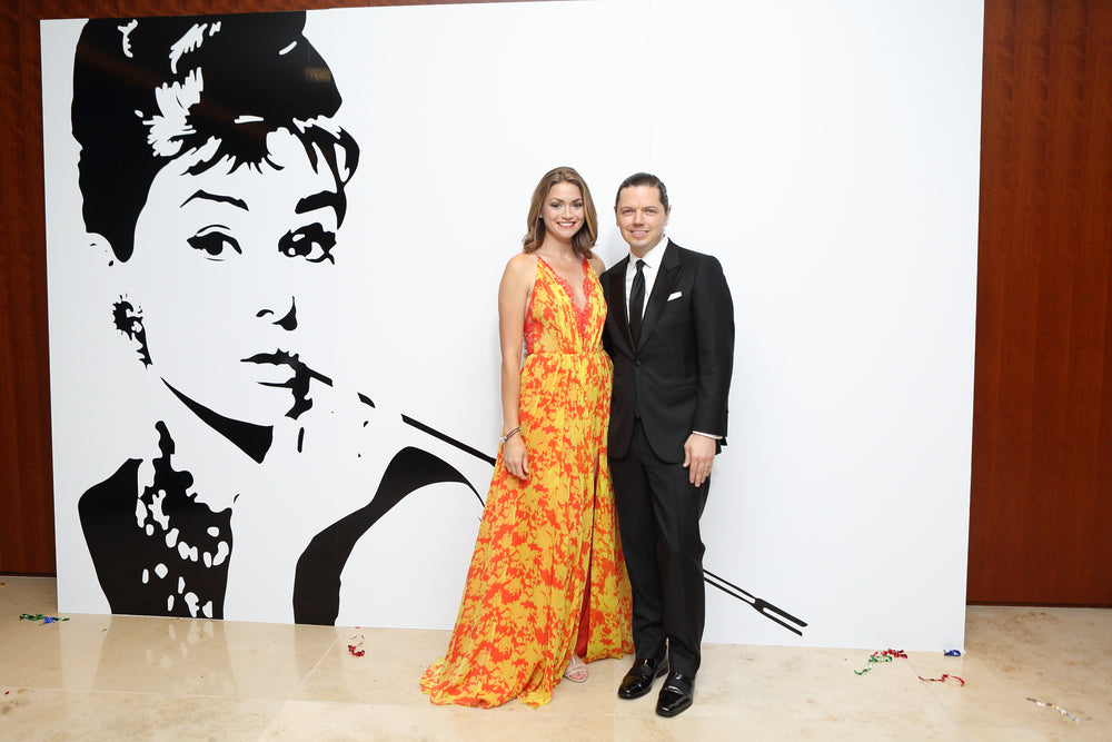 Britta Merwin, David Peck , LCA International Mother's Day Soireé, Miles David Gown
