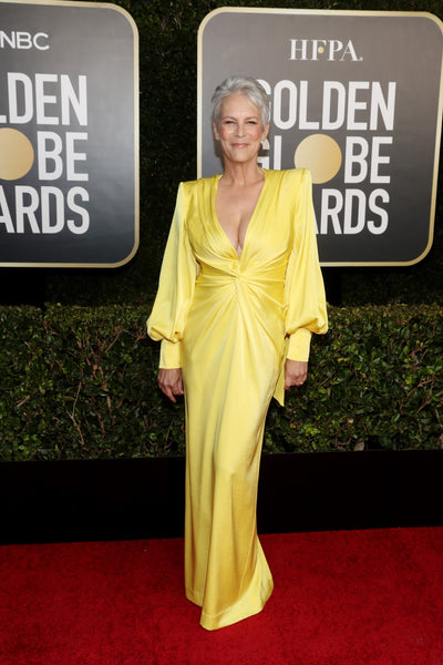 Jamie Lee Curtis in Alex Perry and Cathy Waterman jewelry