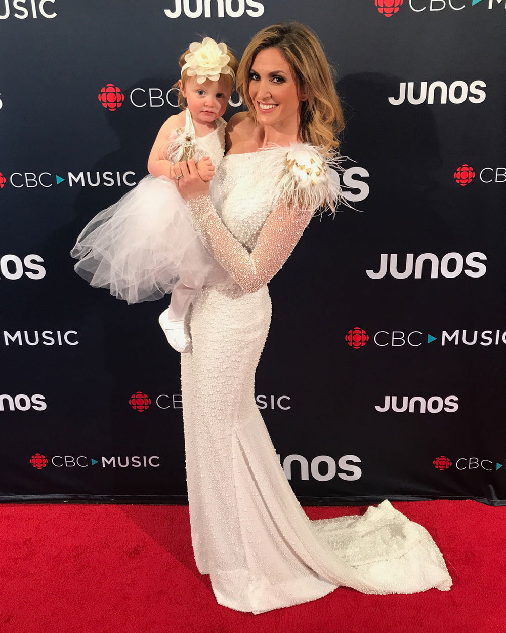 Kelly Levesque, Miles David, Custom Gown, David Peck, Juno Awards