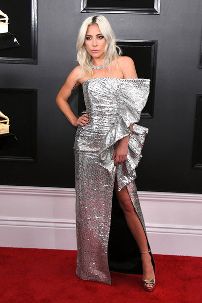 Lady Gaga Grammy Awards Red Carpet Bow Trend by David Peck