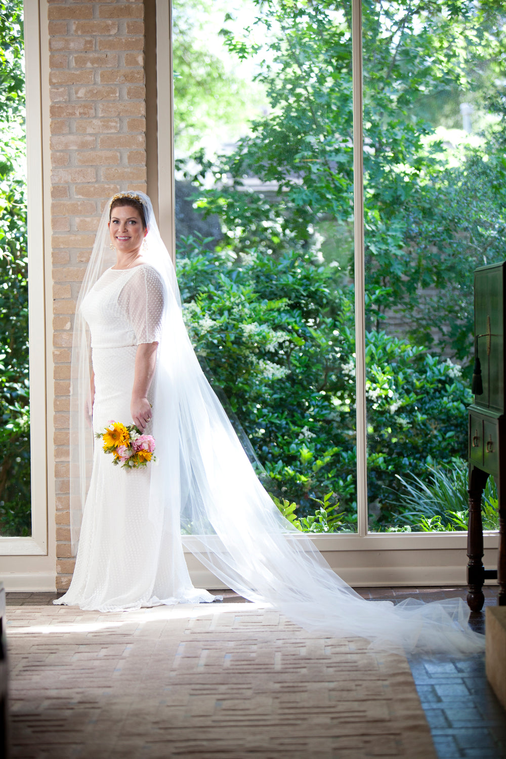 Lauren Levicki Wedding, Miles David by David Peck, Custom Wedding Gown, Houston Wedding
