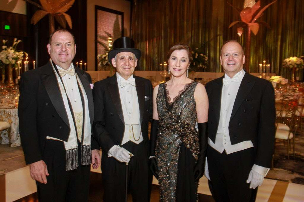 Dr. Liz Grimm, Houston Opera Ball Chair, Miles David Custom Gown by David Peck, Perryn Leech