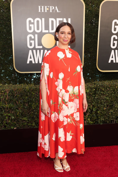Maya Rudolph in Valentino and Jimmy Choo shoes