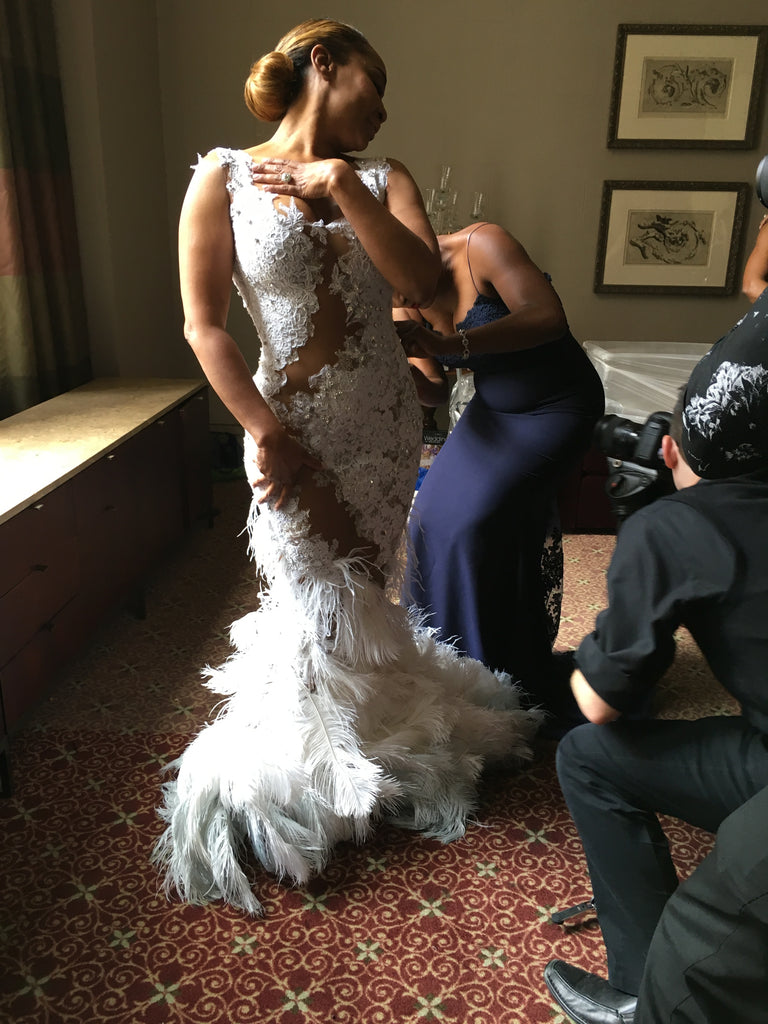 wedding dress final touches
